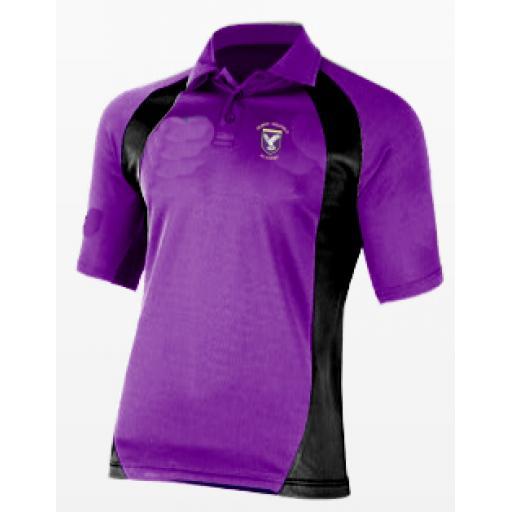 Purple & Black Sports Poloshirt - Standard Fit