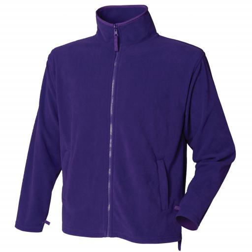 PURPLE - Unisex Microfleece Jacket with embroidered college logo (Student or Staff)