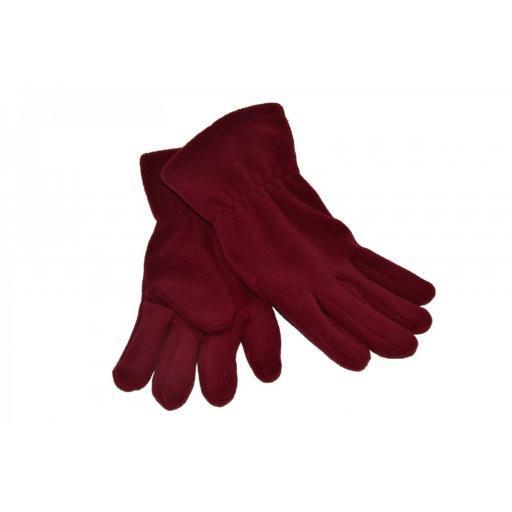 Fairfield Park Maroon Fleece Gloves