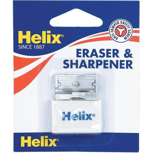 Helix® Single Hole Sharpener & Eraser Set