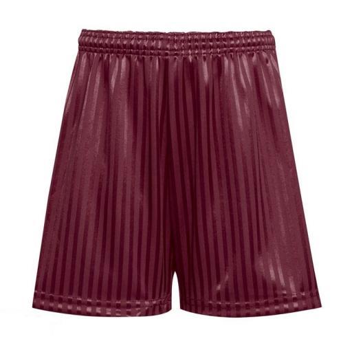Shadow Stripe Sports Shorts - Maroon