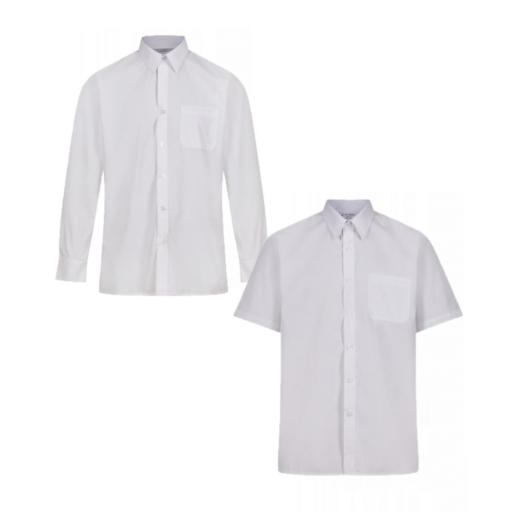 Boys White Shirts - Pack of 2