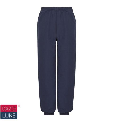 Microfibre Tracksuit Trousers - Navy