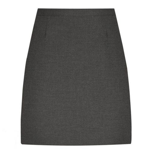 Senior Girls Straight Skirt - Grey