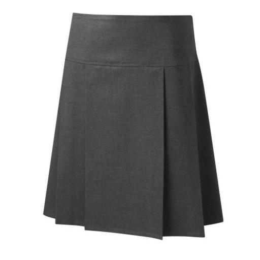 Junior Girls Drop Waist Pleated Skirt - Grey
