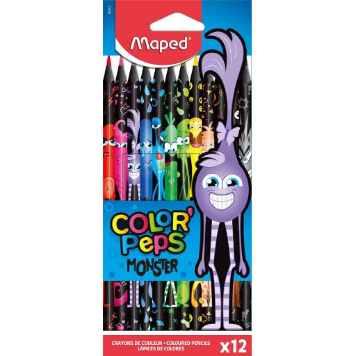 Maped® 'ColorPeps' Monster Design Colouring Pencils - Pack of 12