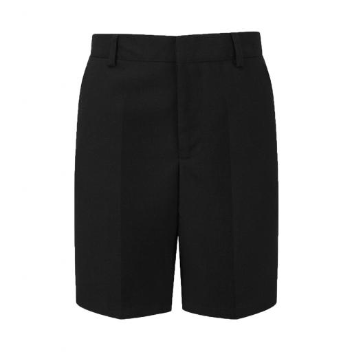 Senior Boys Tailored School Shorts - Black