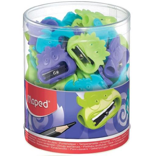 Maped® 'Vivo' Fancy One Hole Pencil Sharpener - Assorted Colours