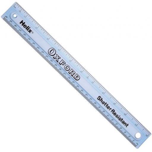 Helix® 30cm/12 inch Oxford Shatter Resistant Ruler