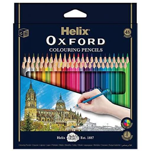 Helix® Oxford Colouring Pencils - Pack of 48