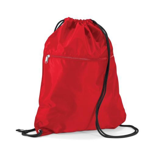 Senior P.E. Bag with Zip - Red