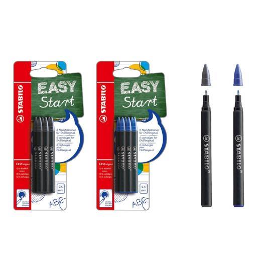 Stabilo® Easy Start Rollerball Pen Refills - Pack of 6