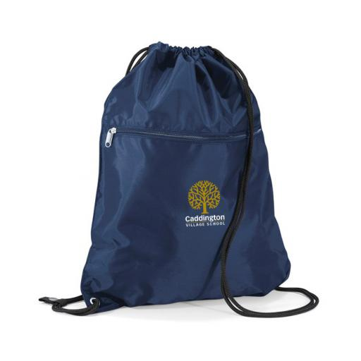 Caddington Village P.E. Bag with Zip Section