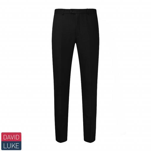 Boys Ultra Slim Trousers - Black